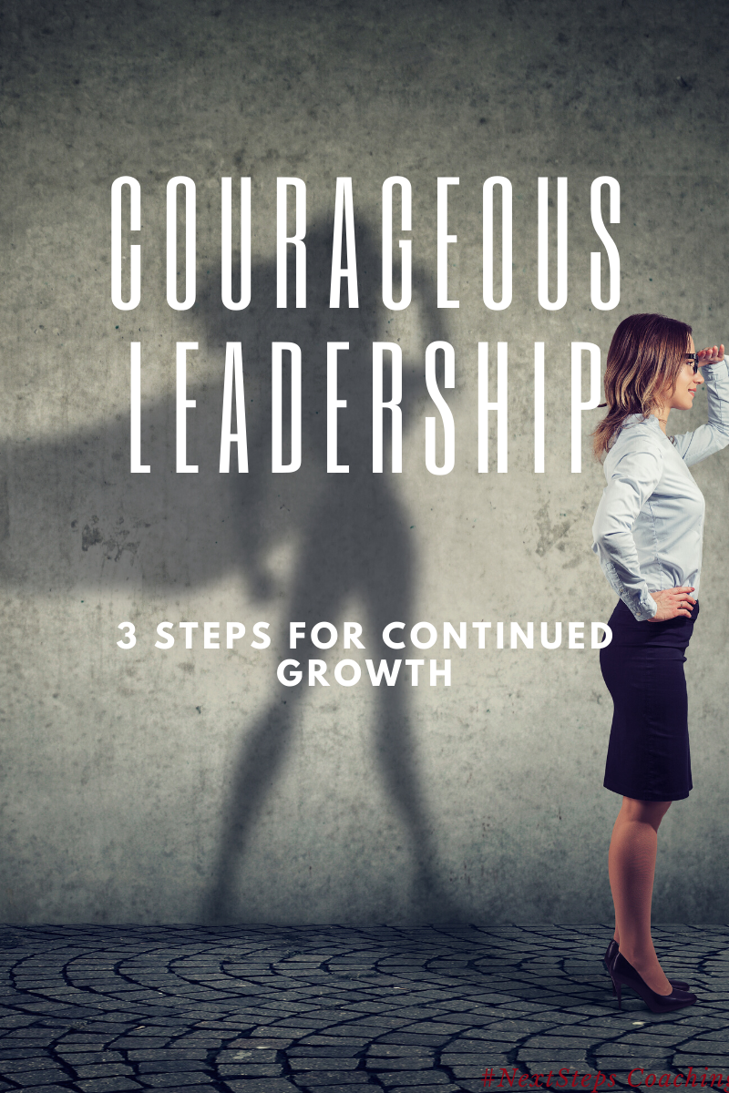 "Blog Cover Picture with Title ""Courageous Leadership"""