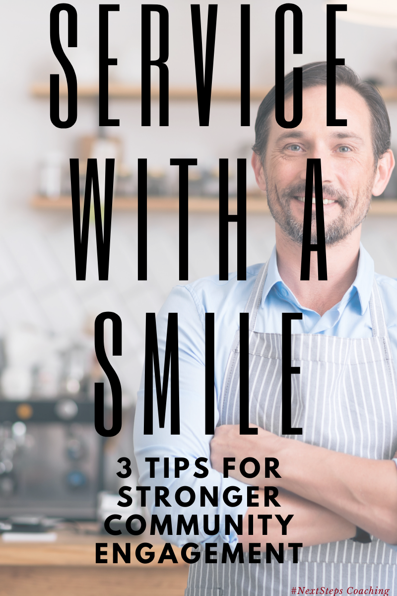 Blog Post Cover: Business Owner providing service with a smile