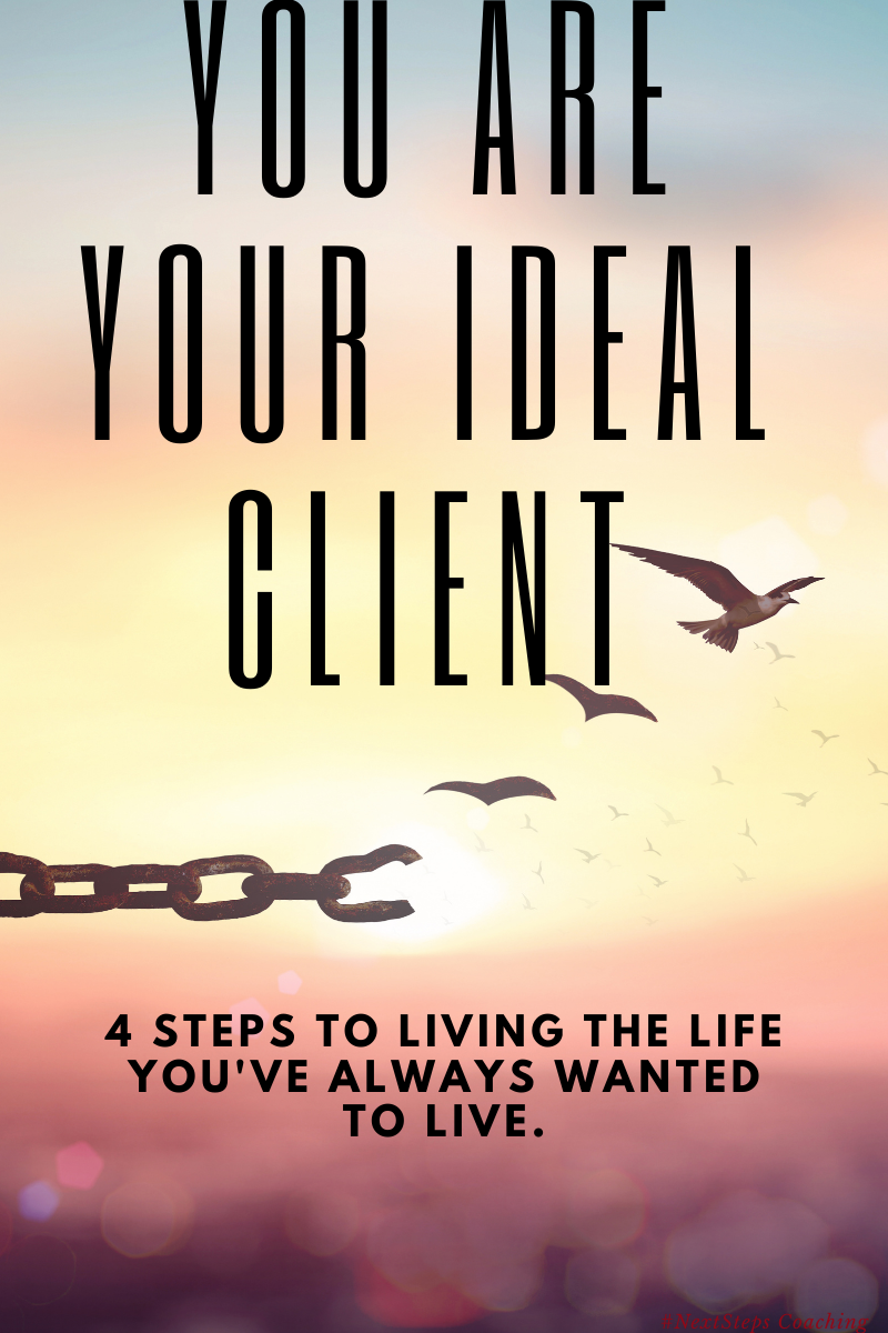 Blog post cover art you are your ideal client with chain and birds.